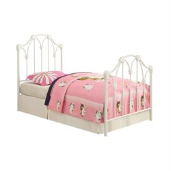 Coaster Scarlett Twin Metal Bed with Headboard in White