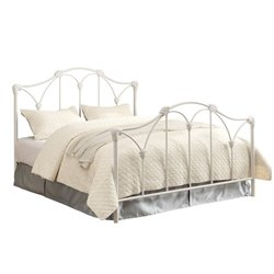 Coaster Scarlett Full Metal Bed with Headboard in White