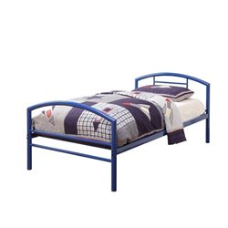 Coaster Twin Iron Bed with Headboard in Blue
