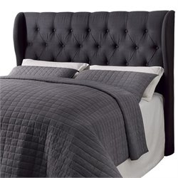 Coaster Murrieta Full Queen Upholstered Headboard in Charcoal