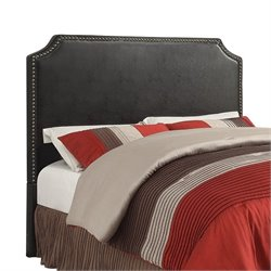 Coaster Novato Full Queen Upholstered Headboard in Black