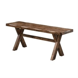 Coaster Alston Trestle Dining Bench in Knotty Nutmeg