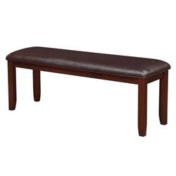 Coaster Dupree Upholstered Dining Bench in Dark Brown