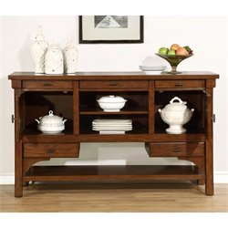 Coaster Abrams 5 Drawer 2 Door Buffet in Truffle