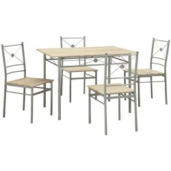 Coaster 5 Piece Dining Set in Taupe