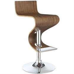 Coaster Adjustable Bar Stool in Walnut