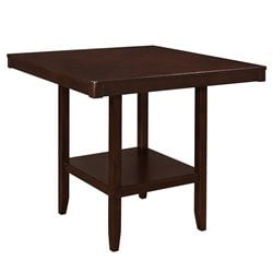 Coaster Fattori Square Pub Table in Walnut