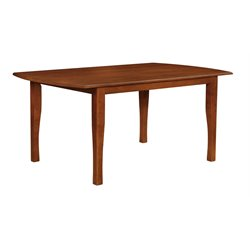 Coaster Sierra Dining Table in Amber