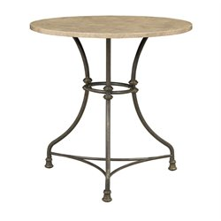 Coaster Pub Table with Metal Base in Cream