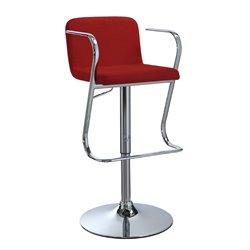 Coaster Adjustable Bar Stool in Red