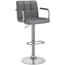 Coaster Adjustable Bar Stool in Gray
