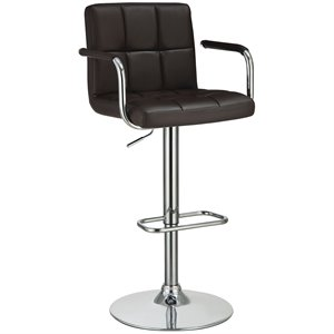 Coaster Adjustable Bar Stool in Brown