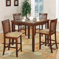 Coaster 5 Piece Pub Set in Cherry