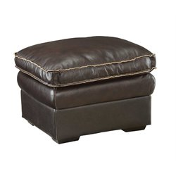 Coaster Regalvale Leather Ottoman in Two Tone Brown