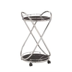 Coaster Metal Serving Cart in Chrome
