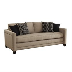 Coaster Pratten Upholstered Sofa in Wheat