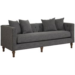 Coaster Ellery Upholstered Sofa in Gray