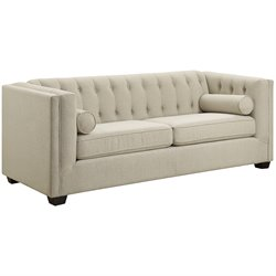 Coaster Cairns Upholstered Sofa in Oatmeal