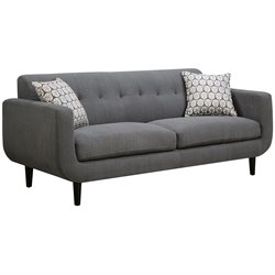 Coaster Stansall Upholstered Modern Sofa in Gray