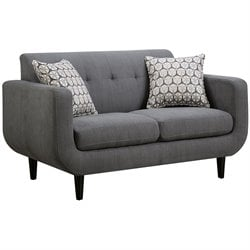 Coaster Stansall Modern Loveseat in Gray