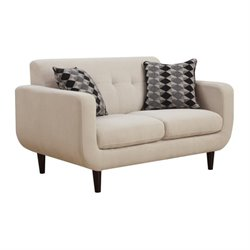 Coaster Stansall Modern Loveseat in Ivory