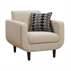 Coaster Stansall Modern Accent Chair in Ivory