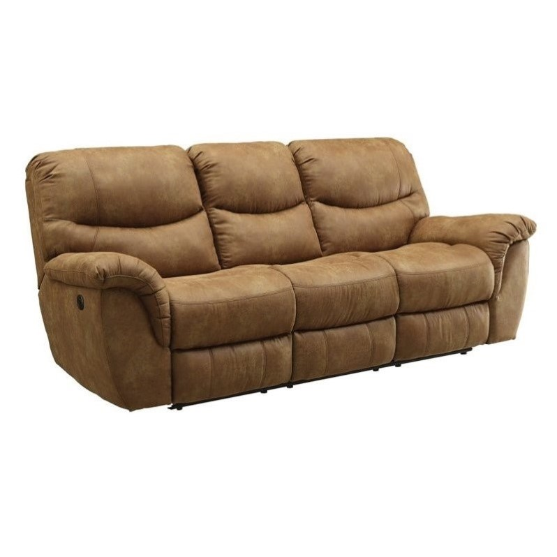 Coaster Hancox Motion Sofa In Light Brown 601761