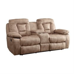 Coaster Evensky Motion Loveseat in Bone