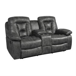Coaster Evensky Motion Loveseat in Charcoal