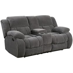 Coaster Weissman Reclining Loveseat in Gray