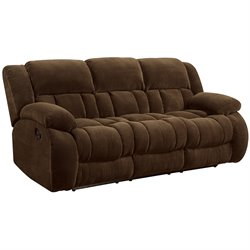 Coaster Weissman Motion Sofa in Brown