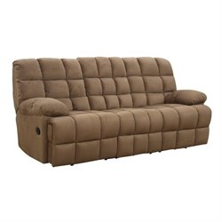 Coaster Pickett Motion Sofa in Mocha