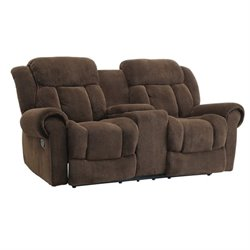 Coaster Reige Motion Loveseat in Chocolate
