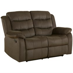 Coaster Rodman Motion Loveseat in Two Tone Chocolate