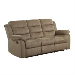 Coaster Rodman Motion Sofa in Tan