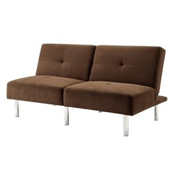 Coaster Split Back Sleeper Sofa in Chocolate