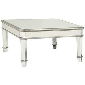 Coaster Square Coffee Table in Silver