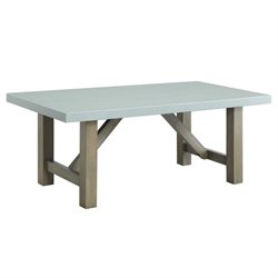 Coaster Concrete Top Coffee Table in Light Gray