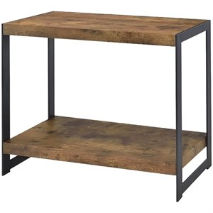 Coaster 1 Shelf Rustic Coffee Table in Antique Nutmeg