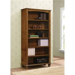 Coaster 6 Shelf Bookcase in Warm Brown