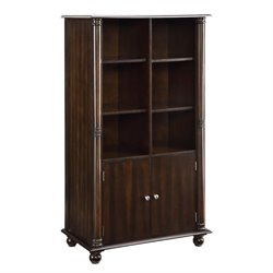 Coaster Jacqueline 3 Tiered Bookcase with Cabinet in Cappuccino