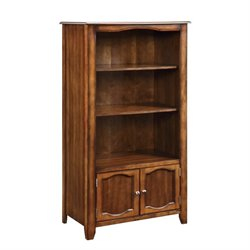 Coaster Jacqueline 3 Tiered Bookcase with Cabinet in Walnut