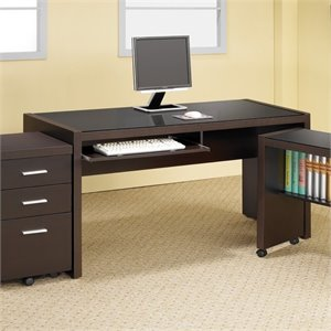 Coaster Skylar Computer Desk with Keyboard Drawer in Cappuccino