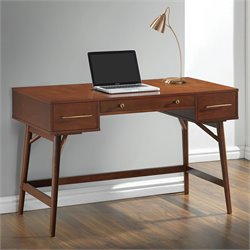 Coaster 3 Drawer Mid Century Modern Writing Desk