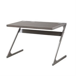 Coaster Modern Bluetooth Speaker Desk in Weathered Gray
