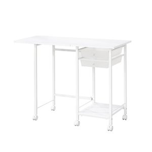 Coaster 2 Drawer Folding Desk with Casters