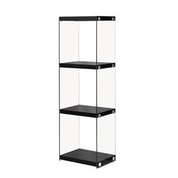 Coaster 3 Shelf Bookcase in Glossy Black