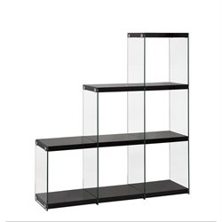 Coaster Glass Side Bookcase in Black