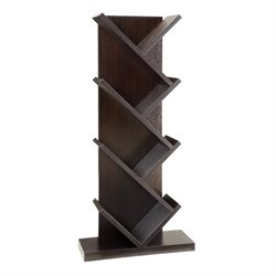 Coaster 4 Shelf Slanted Bookcase in Cappuccino