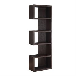 Coaster Semi Backless Bookcase in Cappuccino